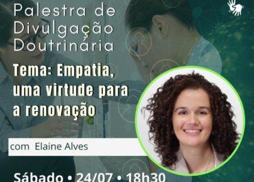 Empatia, uma virtude para a renovação. PDD Virtual 24/07/2021 às 18h30