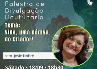 Vida, uma dádiva do Criador! PDD Virtual 18/09/2021 às 18h30